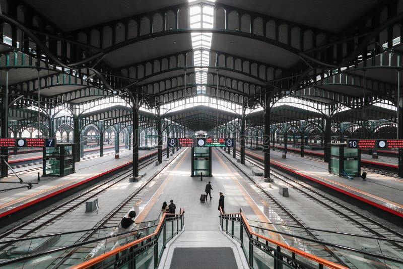 Porcelanowa stacja kolejowa fotografia royalty free