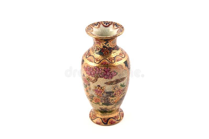 porcelanowa złocista waza zdjęcie stock