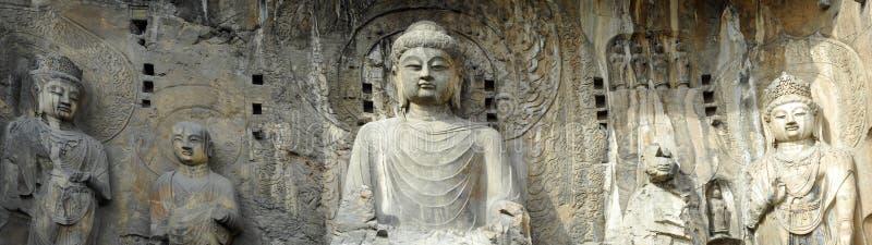 porcelanowe Buddha groty longmen zdjęcie royalty free