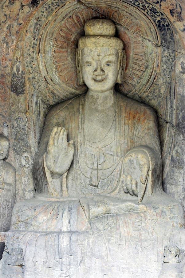 porcelanowe Buddha groty longmen zdjęcia royalty free