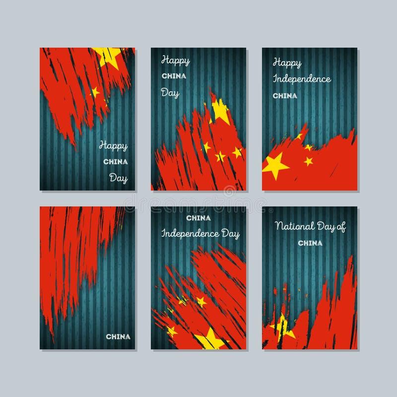 Porcelanowe Patriotyczne karty dla święta państwowego ilustracji