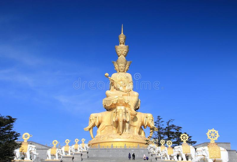 porcelanowego emei złoty góry szczyt obrazy royalty free