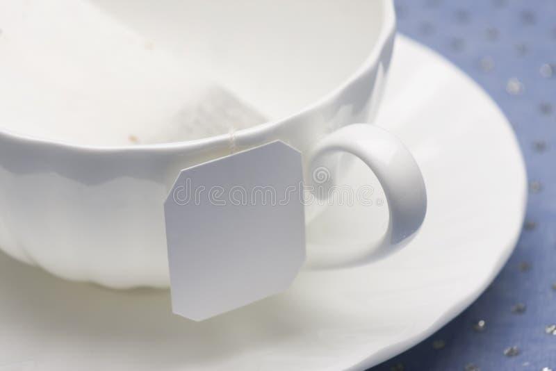 porcelanowej filiżanki herbaciany biel zdjęcia royalty free