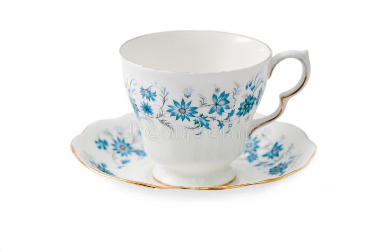 Porcelanowej porcelany herbaciana filiżanka - kwiatu projekt obraz stock