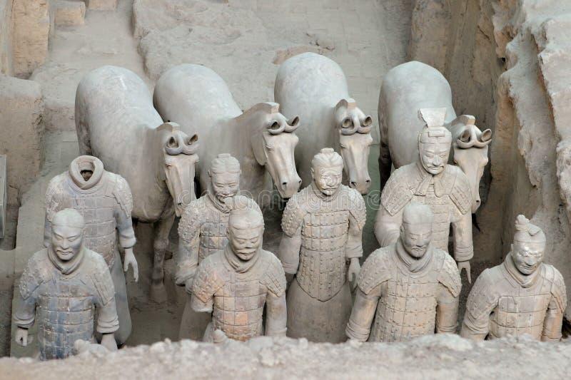 porcelanowi terakotowi wojownicy Xian obraz royalty free