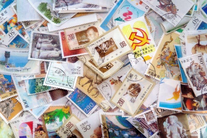 porcelanowi znaczek pocztowy fotografia royalty free
