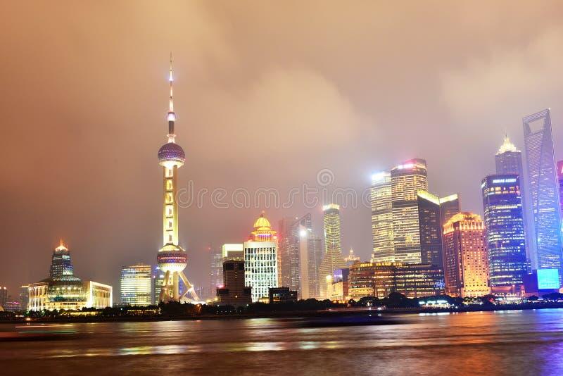 Porcelanowy budynku miasto Szanghaj Szanghaj Pudong zdjęcie royalty free