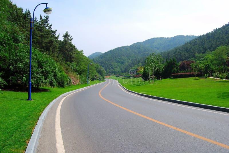 porcelanowy Dalian drogi przedmieście obrazy stock