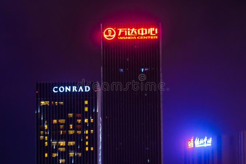 Porcelanowy Dalian miasto zdjęcie royalty free