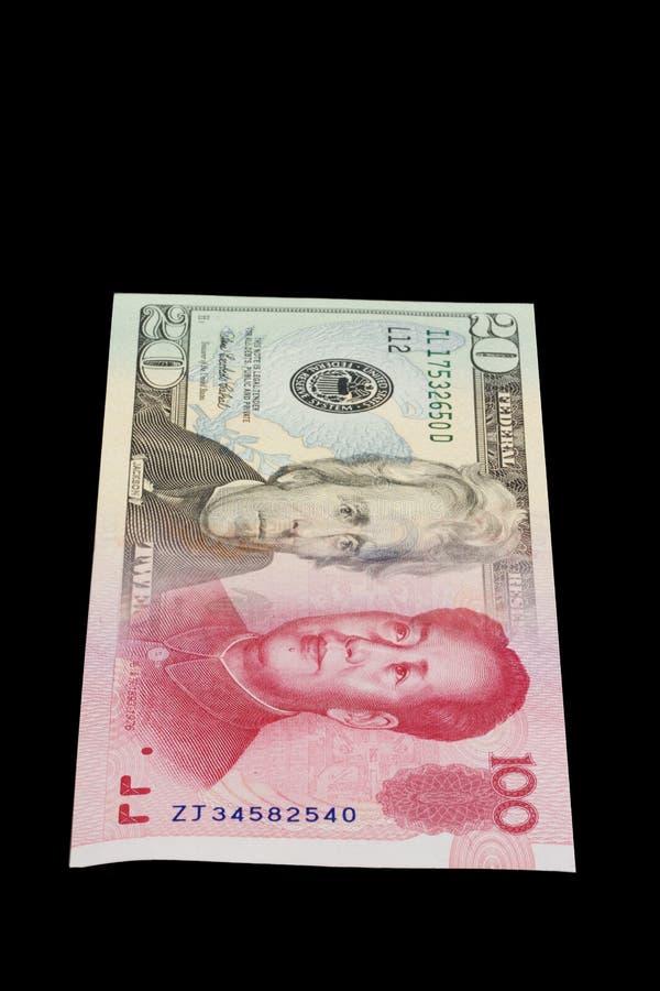 Porcelanowy Dolar Przekształcać Się Rmb Usa Zdjęcia Royalty Free