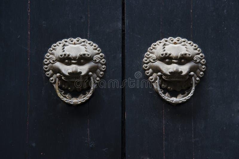 porcelanowy drzwiowy Shanghai obrazy royalty free