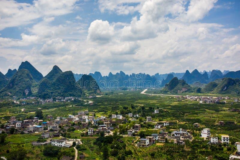 porcelanowy Guilin scenerii yangshuo fotografia royalty free