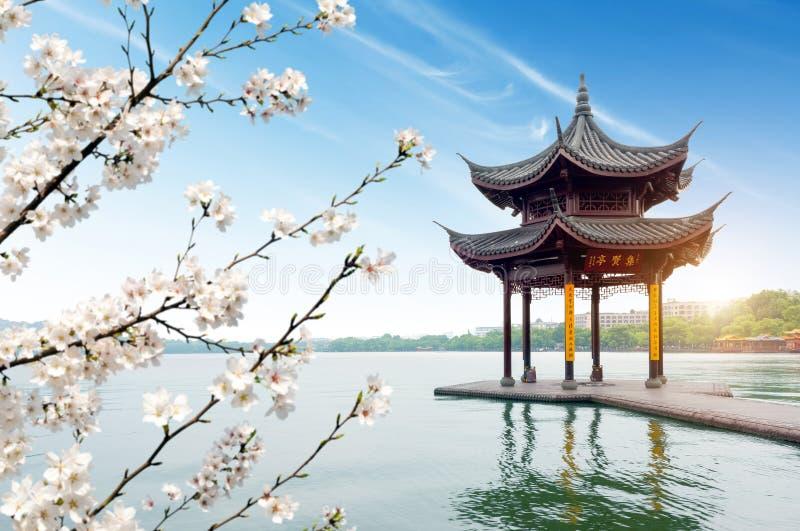 Porcelanowy Hangzhou jeziora Zachodni krajobraz obraz stock