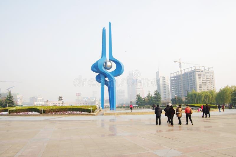 porcelanowy Jinan quancheng kwadrat obrazy stock