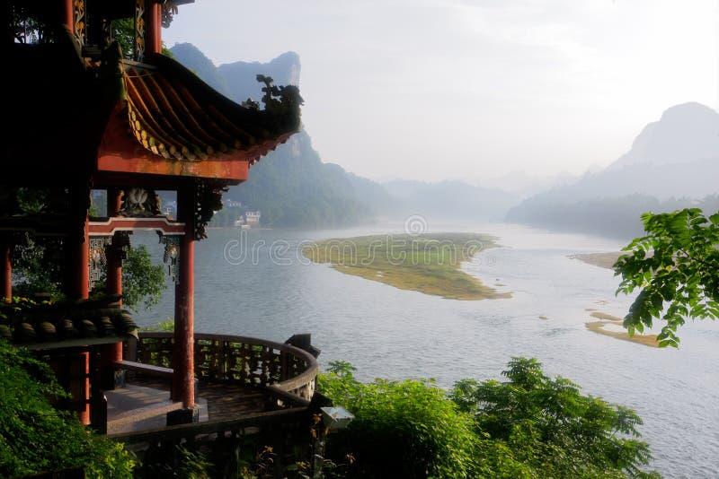 porcelanowy li rzeki yangshuo zdjęcie stock