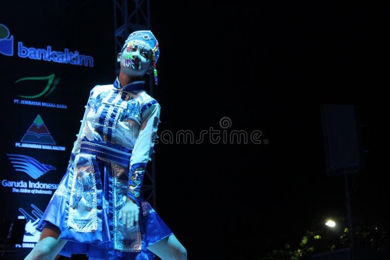 Porcelanowy ludowy taniec w EIFAF 2017 fotografia stock