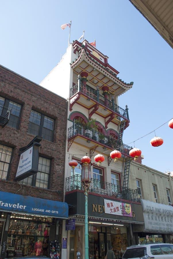 Porcelanowy miasteczko, Stary Szanghaj, San Francisco Świętowanie z Chińskimi latarkami zdjęcia stock