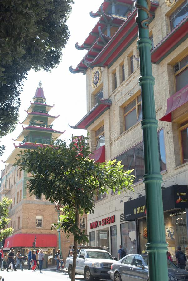 Porcelanowy miasteczko, Stary Szanghaj, San Francisco obrazy royalty free