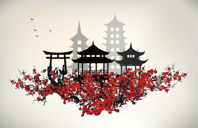 Porcelanowy miasto ilustracji