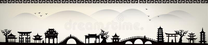 Porcelanowy miasto royalty ilustracja