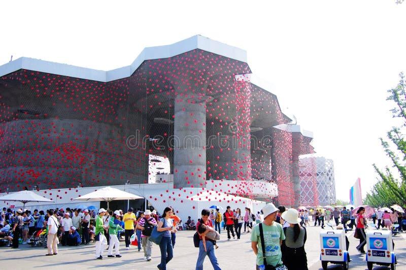 porcelanowy pawilon expo2010 Shanghai Switzerland zdjęcia royalty free