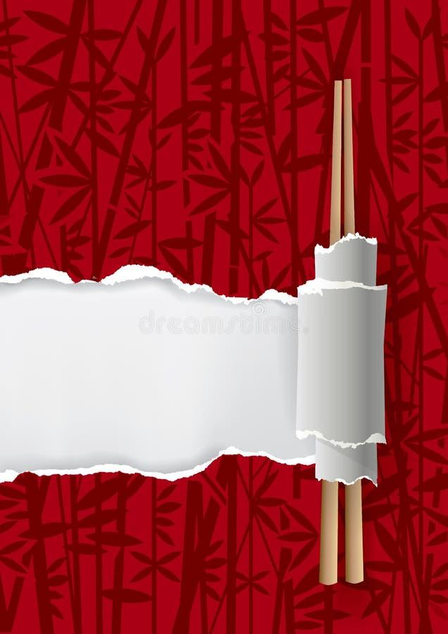Porcelanowy restauracyjny menu tło royalty ilustracja
