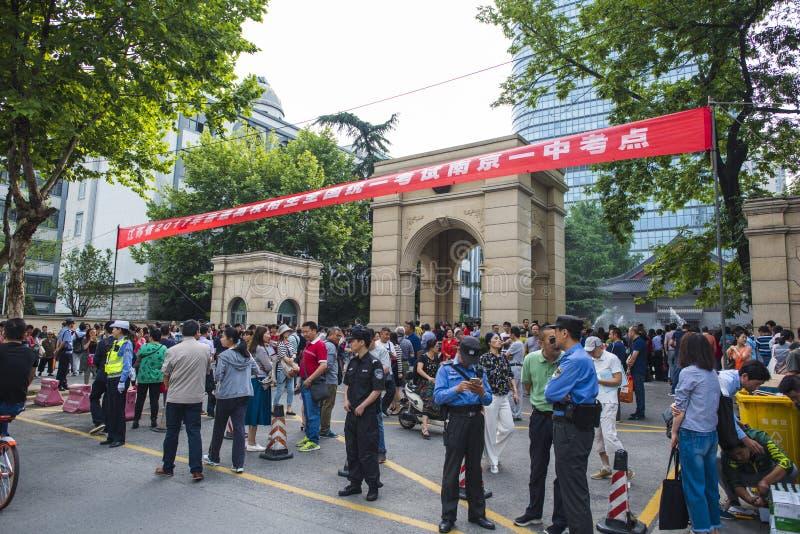 Porcelanowy ` s Krajowy Wejściowy egzamin w Nanjing zdjęcie royalty free