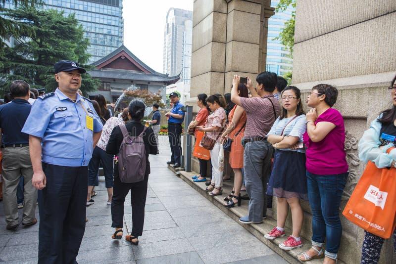 Porcelanowy ` s Krajowy Wejściowy egzamin w Nanjing fotografia stock