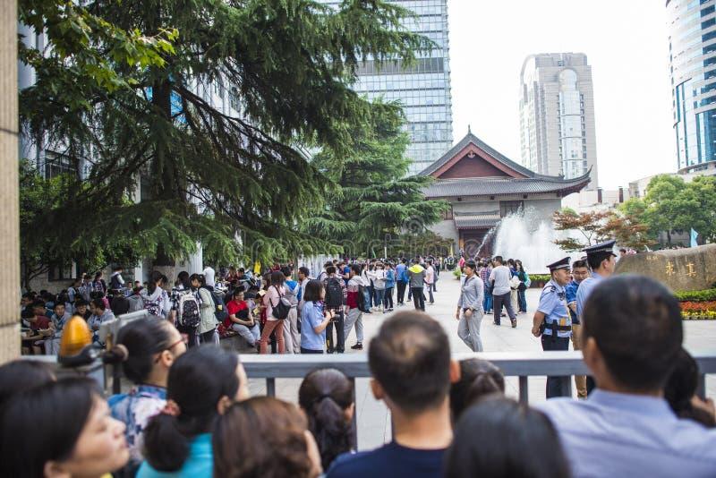 Porcelanowy ` s Krajowy Wejściowy egzamin w Nanjing obraz royalty free