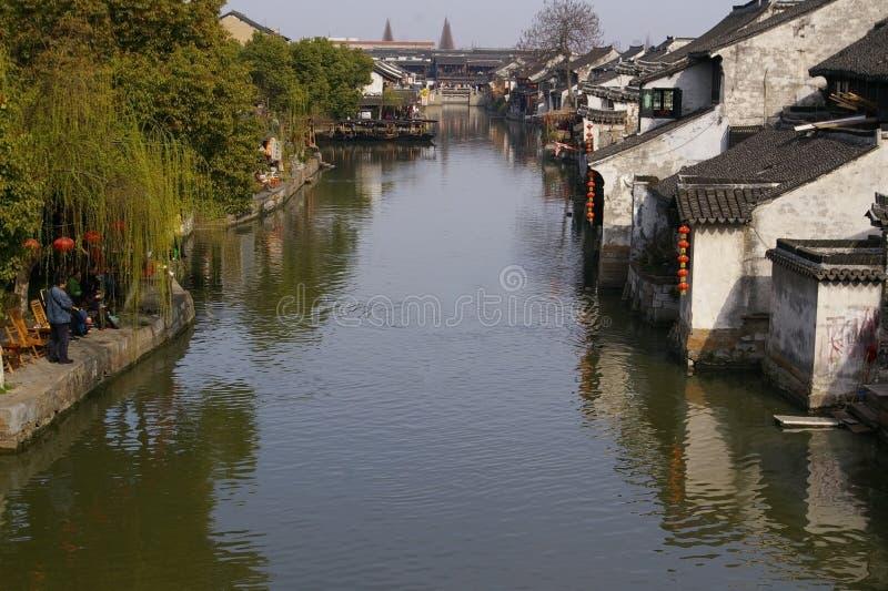 porcelanowy stary wioski wody xitang obrazy stock