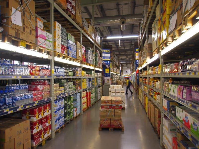 porcelanowy supermarket zdjęcia stock