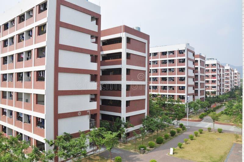PORCELANOWY szkoły wyższa dormitorium zdjęcie royalty free