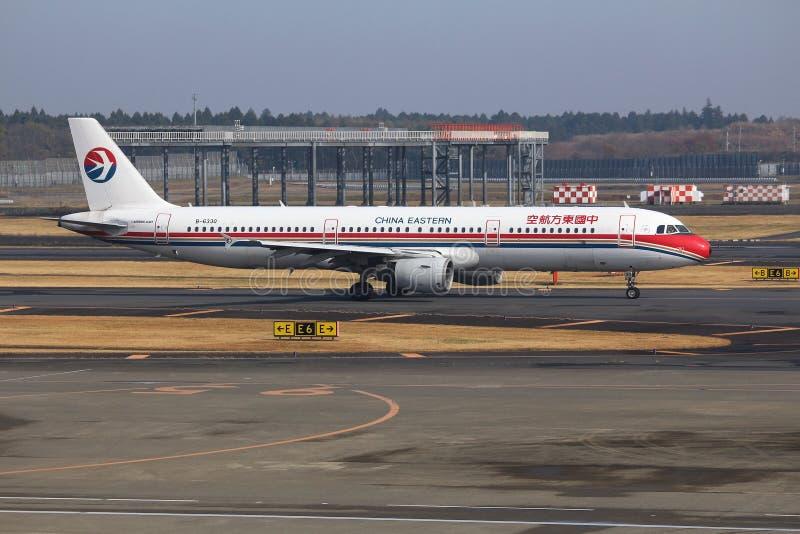 Porcelanowy Wschodni Aerobus A321 fotografia royalty free
