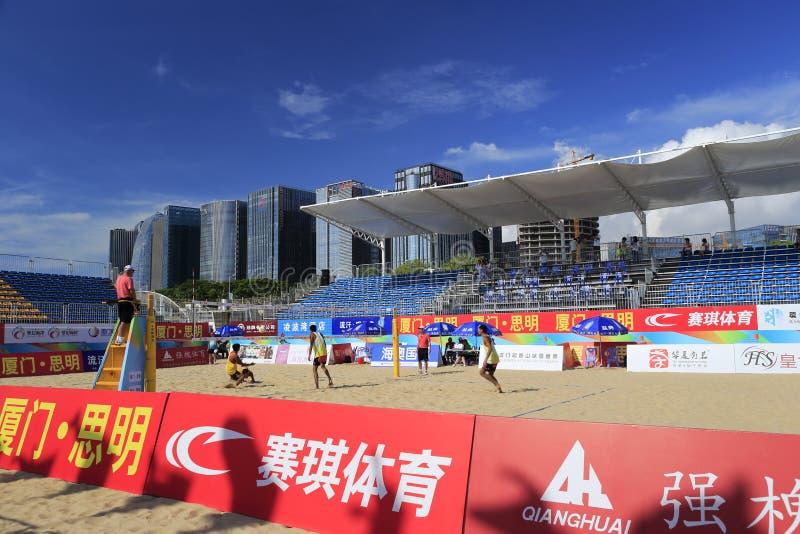 2014 porcelanowych krajowych plażowej siatkówki mistrzostw fotografia stock