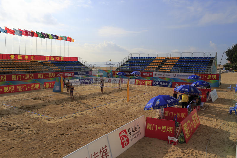 2014 porcelanowych krajowych plażowej siatkówki mistrzostw zdjęcia royalty free