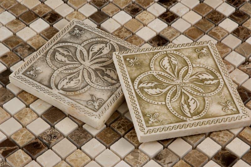 Porcelany dachówkowa i naciekowa mozaika obraz royalty free
