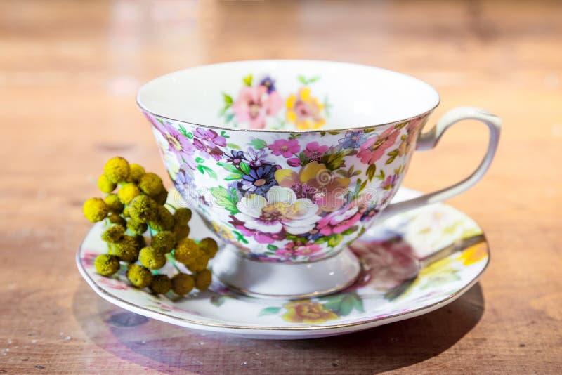 Porcelany herbaciana filiżanka zdjęcie stock