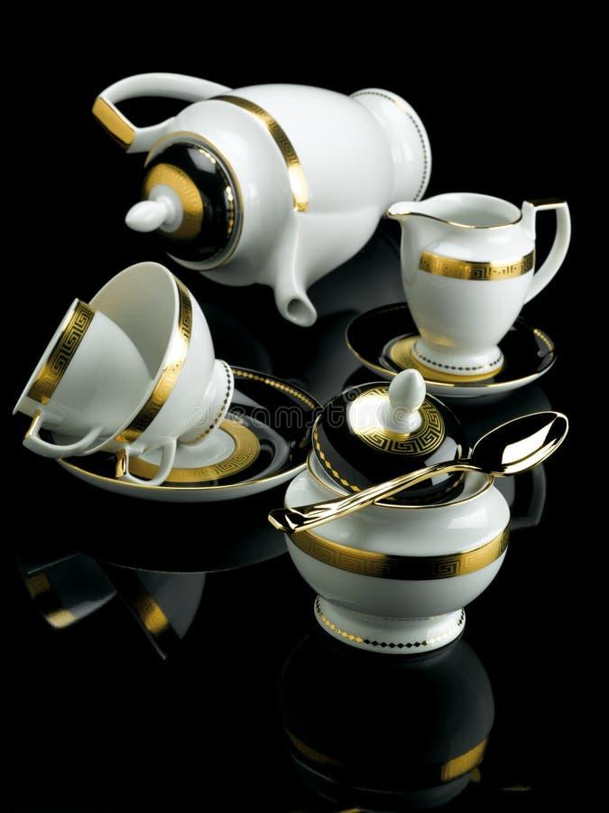 Porcelany herbaty set obrazy stock