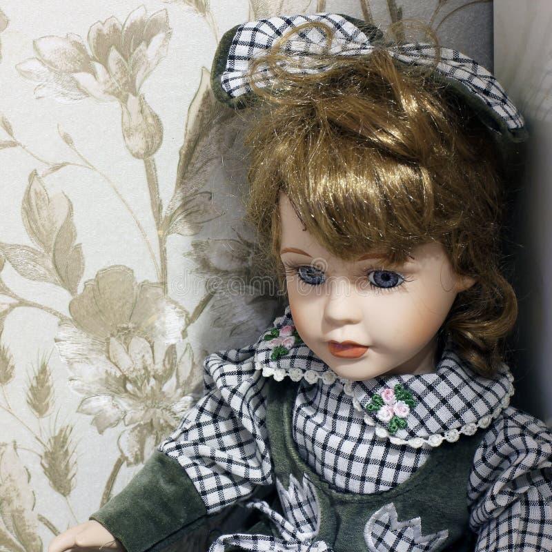 Porcelany lala w g?r? Dziecko - lala zdjęcie stock