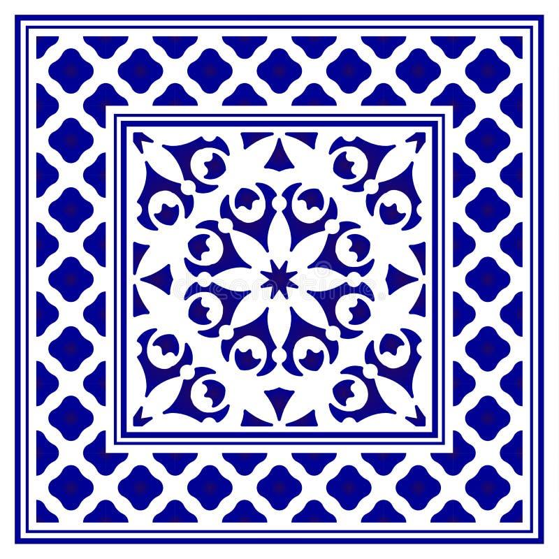 Porcelany ramy projekt ilustracja wektor