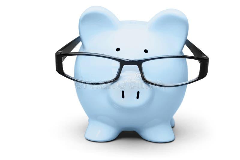 Download Porcellino Salvadanaio Blu In Vetri Su Fondo Immagine Stock - Immagine di finanziario, vetri: 117980731