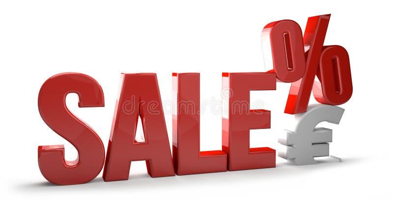 A porcentagem 3d de compra da venda rende o símbolo da venda ilustração do vetor