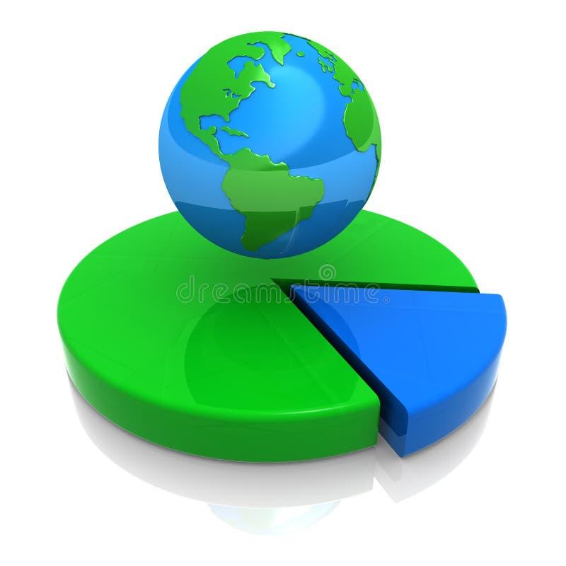 Porcentagem do mundo ilustração stock