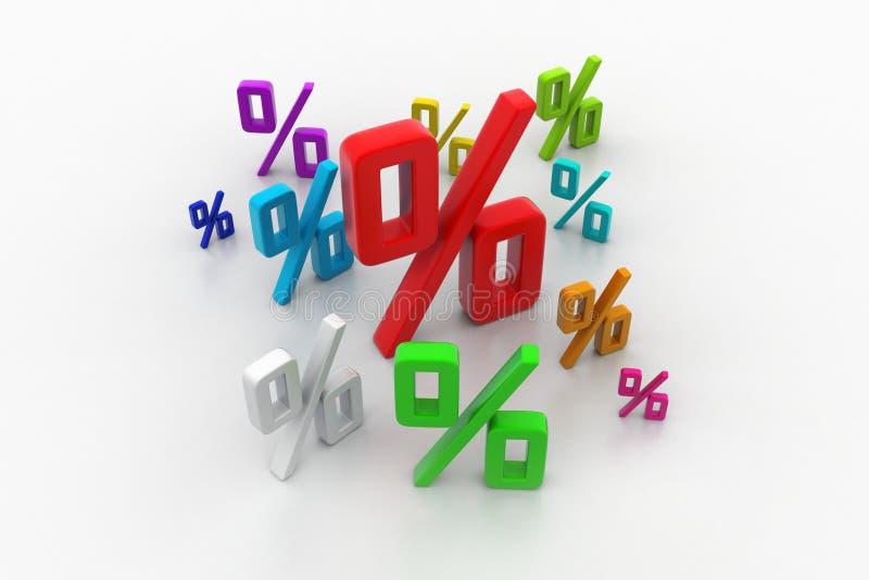 Porcentaje del crecimiento ilustración del vector