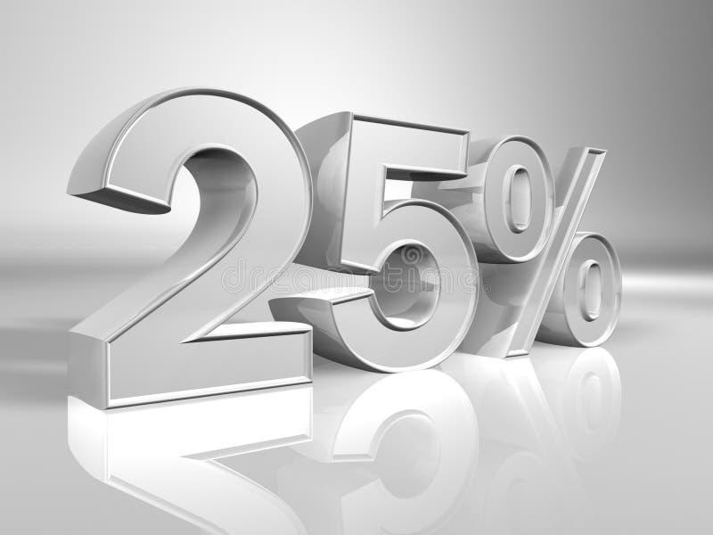 Porcentaje el 25% stock de ilustración