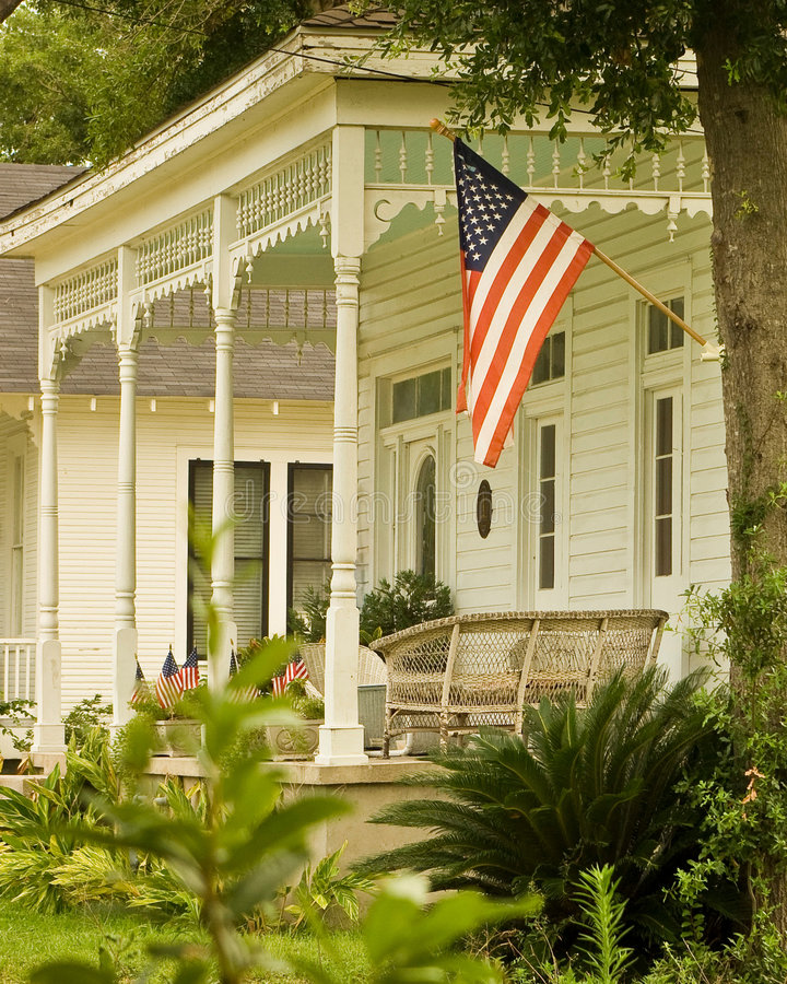 Download Porch stock photo. Image of summer, posts, white, southern - 5698108