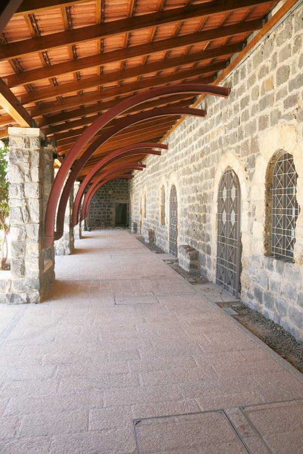 Download Porch Along The Ancient Walls Stock Image - Image: 21030011