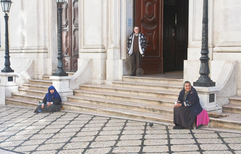 Porch Basilica de诺萨Senhora dos Martires。Lisb 库存图片