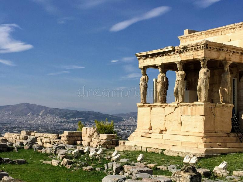Porch of the Caryatids royalty free stock photography