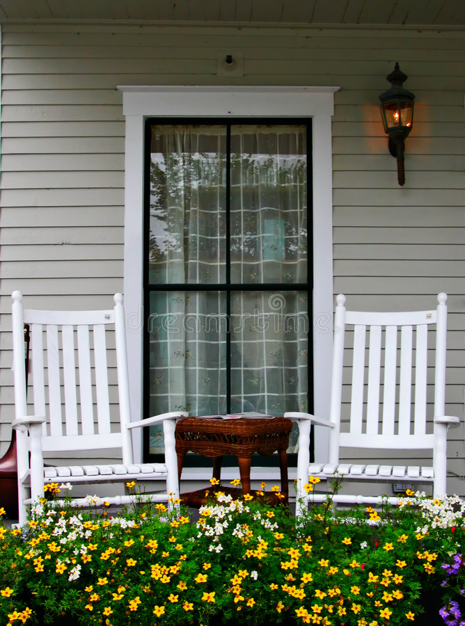 Download Porch and Chairs stock image. Image of light, home, outdoors - 1599295